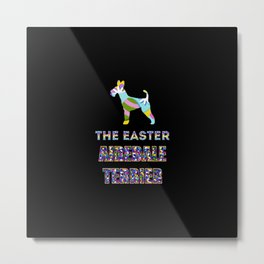 Airedale Terrier gifts   Easter gifts   Easter decorations   Easter Bunny   Spring decor Metal Print