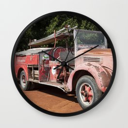 Old Fire Truck Wall Clock