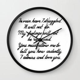 Austen Mr. Darcy Wall Clock
