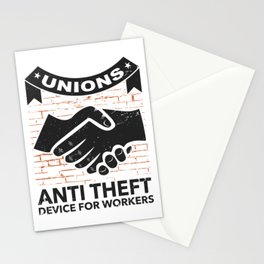 Labor Union of America Pro Union Worker Protest Light Stationery Cards