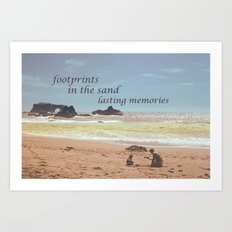 Footprints in The Sand Art Print