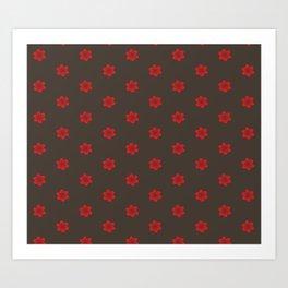 Asian Monkey Sakura Blossoms Collection Pattern 3 Art Print