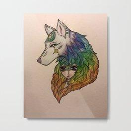 Wolf Girl Metal Print