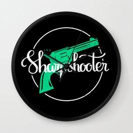 The Sharpshooter Wall Clock