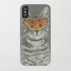 The cat's eyes have it Slim Case iPhone X