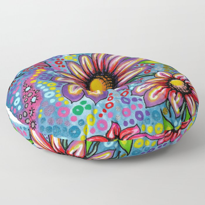 """Summertime"" Floor Pillow"