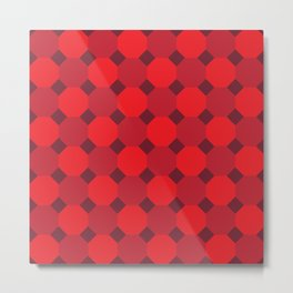 Red Octagon Pattern Metal Print