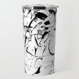 Thoughts - b&w Travel Mug