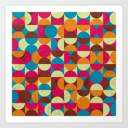 Energy Deco Retro Pattern Bubblegum Art Print