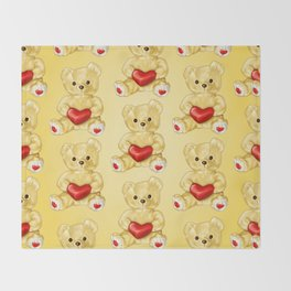 Teddy Bear Hypnotist Throw Blanket