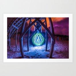 Ocean Orb Art Print
