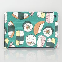 sushi iPad Cases featuring Sushi by Abi Woodhouse