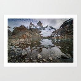 Fitz Roy Glacier Lake Art Print