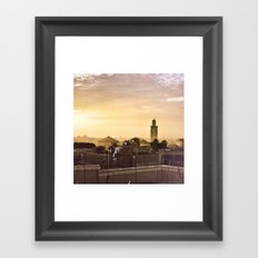 Médina sunset Framed Art Print