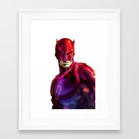 daredevil Framed Art Prints featuring DAREDEVIL by peocle
