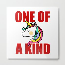 one of a kind unicorn Metal Print