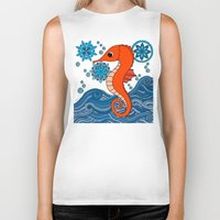 seahorse Biker Tanks featuring Seahorse by tamaradeborah