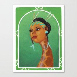Dama Giraffe  Canvas Print