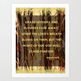 God's Word Art Print
