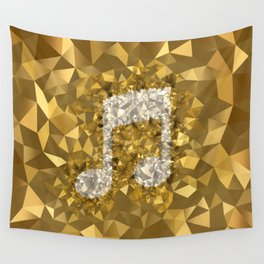 POLYNOID Music / Gold Edition Wall Tapestry