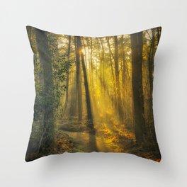 The Golden Forest II Throw Pillow
