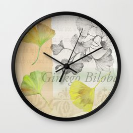 Ginkgo Biloba by Journey Home Made Wall Clock