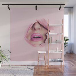 Classy Pink Lady Wall Mural