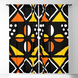 African Geometric Fabric Design Blackout Curtain