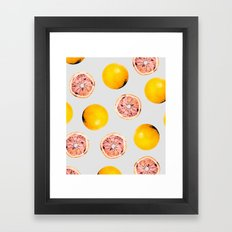 Grapefruit Pattern #society6 #decor #buyart Framed Art Print