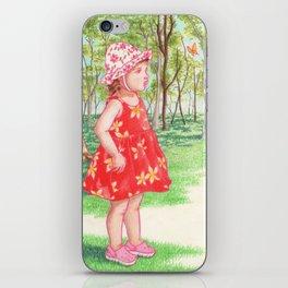 Little Miss Butterfly iPhone Skin