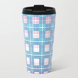 Overlapping squares Travel Mug