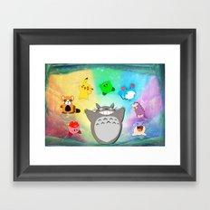 Video game Anime Character Rainbow Framed Art Print