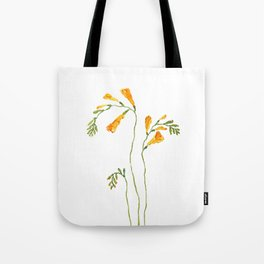 orange freesia watercolor Tote Bag