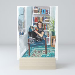 Shelfie Selfie Mini Art Print