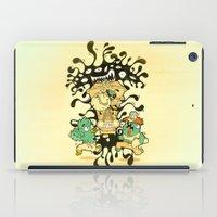 clockwork iPad Cases featuring Clockwork parasite by Kerim Cem Oktay