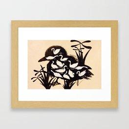 learningtoswim Framed Art Print