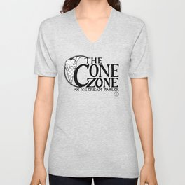Cone Zone Ice Cream Parlor Unisex V-Neck