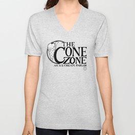 Cone Zone Ice Cream Parlor Unisex V-Neck