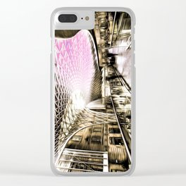 Futuristic London Art Clear iPhone Case