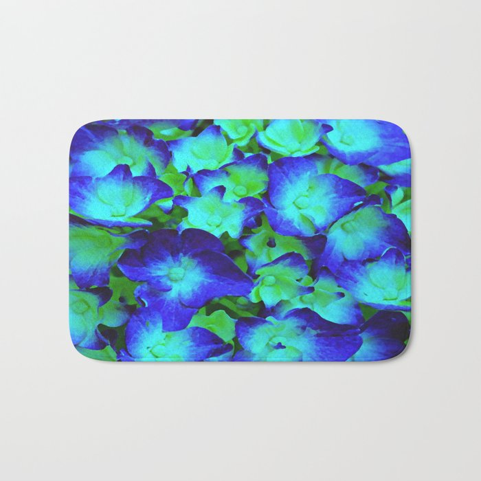 Midnight Blue Hydrangea Bath Mat