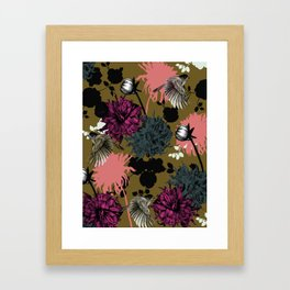 Flower Bomb Framed Art Print