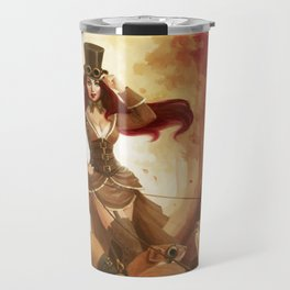 """A Sneak Of Weasels"" Steampunk Pin-Up Travel Mug"