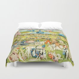 The Garden of Earthly Delights by Bosch Duvet Cover
