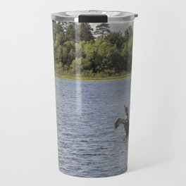 A Common Loon Fishing in the Summer Travel Mug