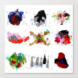 9 abstract rituals Canvas Print