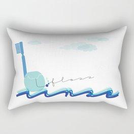 Brush Floss Rinse Rectangular Pillow