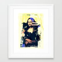 mona lisa Framed Art Prints featuring mona lisa by manish mansinh