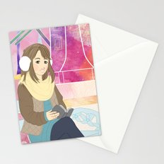 Windmill reading girl Stationery Cards