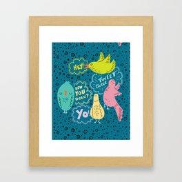 Four Calling Birds Framed Art Print