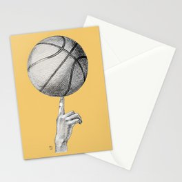 Basketball spin orange Stationery Cards